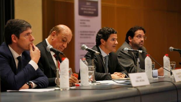 Juan Manuel Abal Medina, Humberto Bertazza, Luciano Laspina, Marco Lavagna