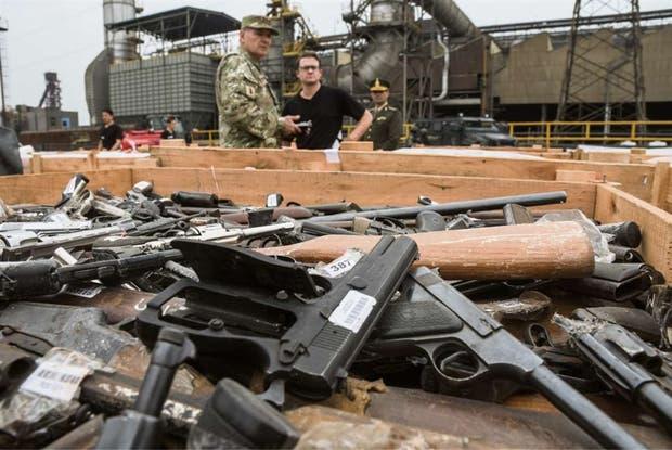 Ordenaron destruir más de 32.000 armas de fuego