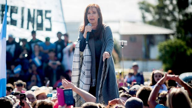 Cristina Kirchner durante el acto