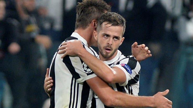 Juventus vs Sporting festejo de Mario Mandzukic