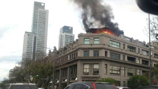 Se incendió la terraza del Palacio Alcorta