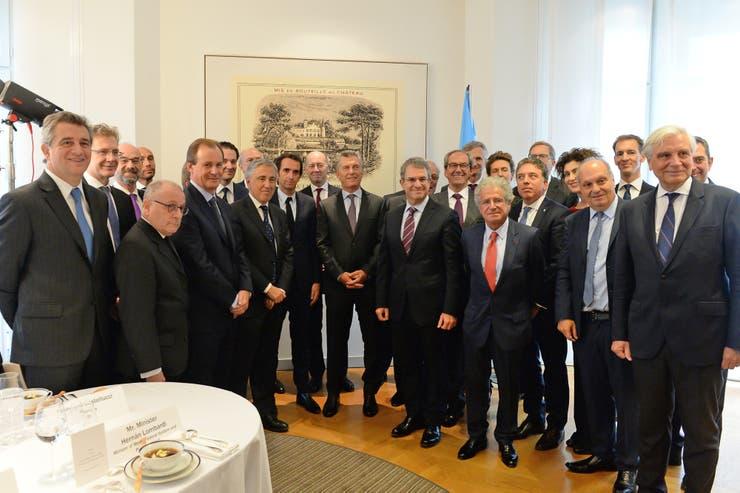 El presidente Mauricio Macri se reunio con empresarios en la sede del grupo Rothschild