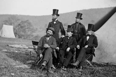 Pinkerton en un alto, durante la Guerra de Secesión