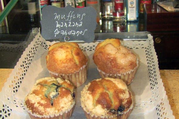 Los muffins, un elegido del café. Foto: Romina Salusso