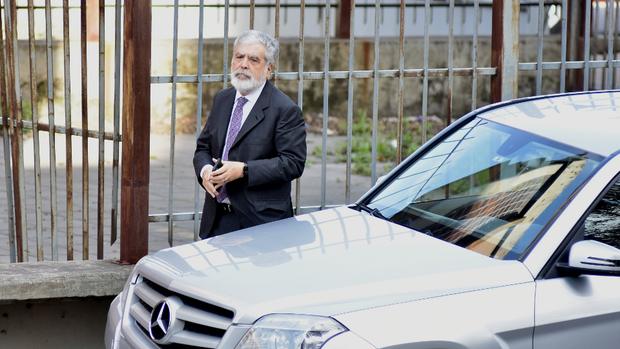 El ex ministro de Planificación, ayer, en los tribunales de Comodoro Py