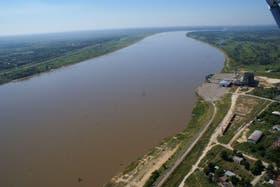 Traza del Río Paraguay donde comenzaría el acueducto