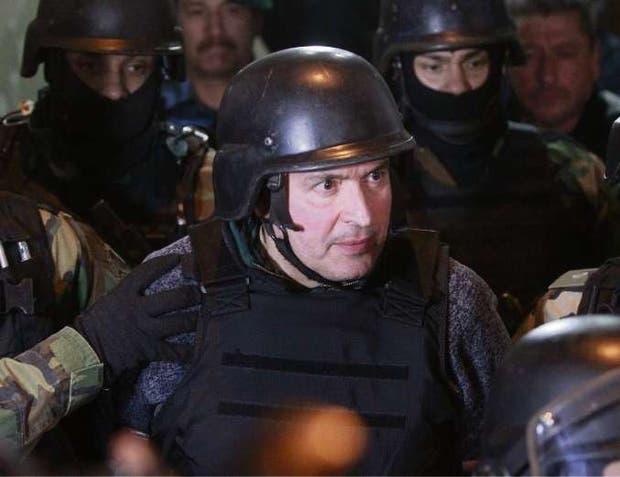 López, al ser detenido en junio del año pasado