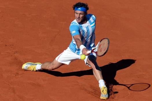 Juan Mónaco se enfrentó al galo Gilles Simon en Parque Roca. Foto: AFP