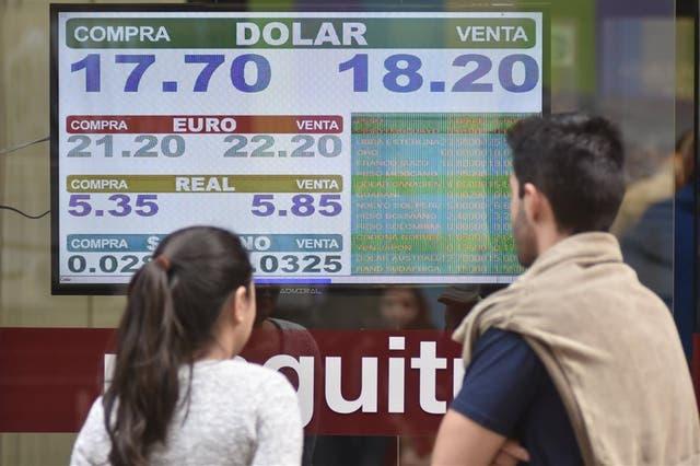 El viernes último, el valor del dólar superó los $ 18