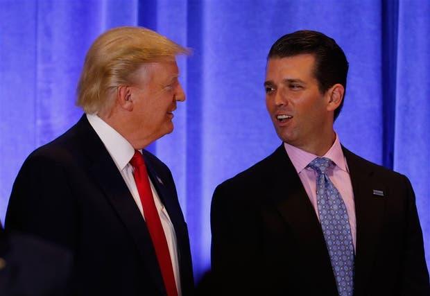 Trump y su hijo mayor, en mejores tiempos