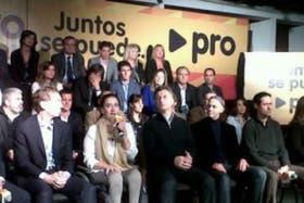 Macri estuvo acompañado por la candidata a senadora nacional Gabriela Michetti y por el primer candidato a diputado, Sergio Bergman, entre otros postulantes.