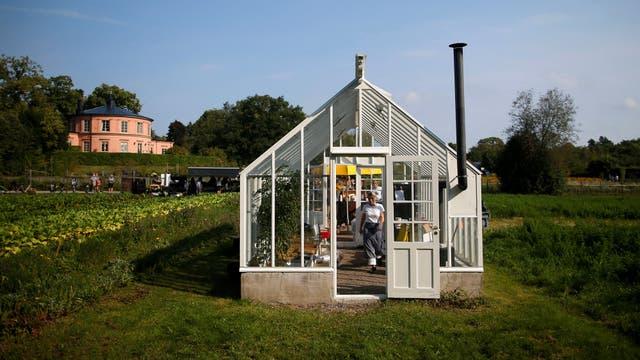 Un invernadero en el jardín de Rosendals en Estocolmo