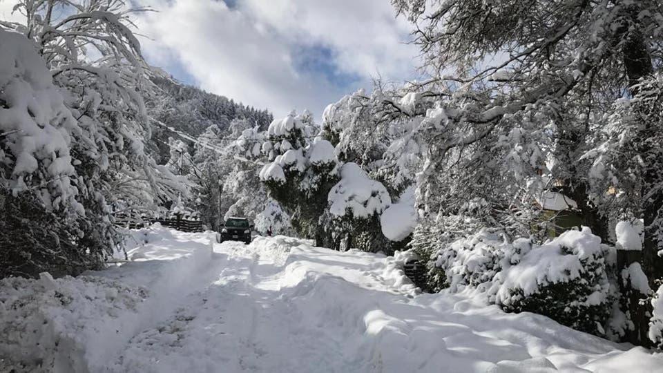 Las nevadas en San Martín de los Andes. Foto: LA NACION / Cecila Chatruc