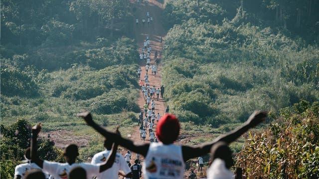 Cubrió una maratón en Uganda