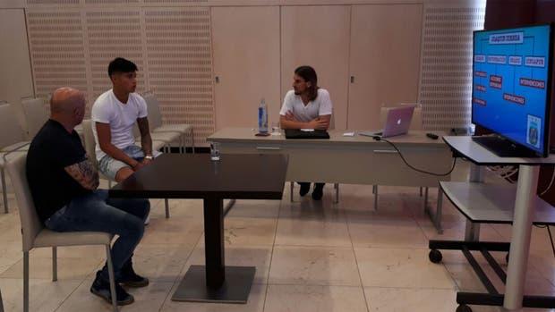Correa con Sampaoli y Beccacece