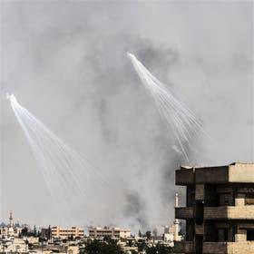 Bombardeos de la coalición sobre Raqqa, la capital de EI