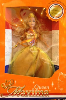 La muñeca Reina Máxima se vende a casi 15 euros en Amsterdam