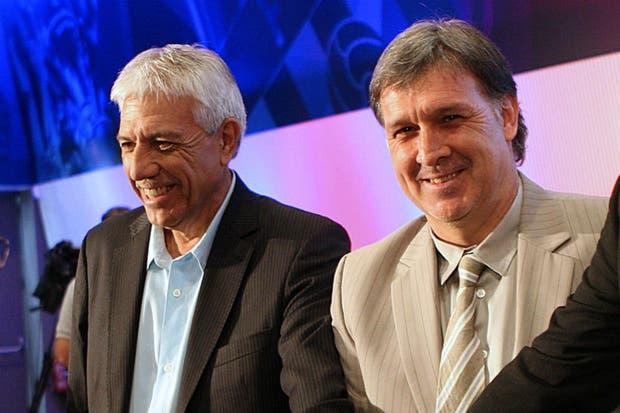 Paolorosso, junto al Tata Martino