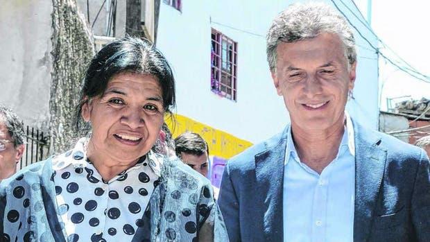 Mauricio Macri con Margarita Barrientos
