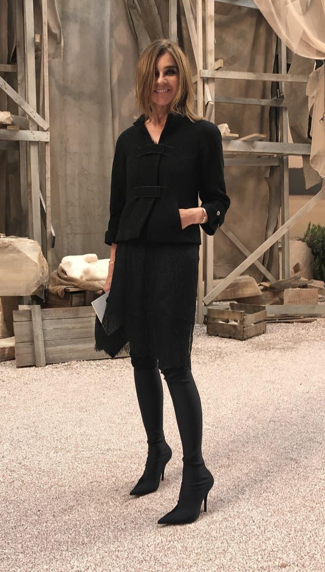 La editora de moda, Carine Roitfeld
