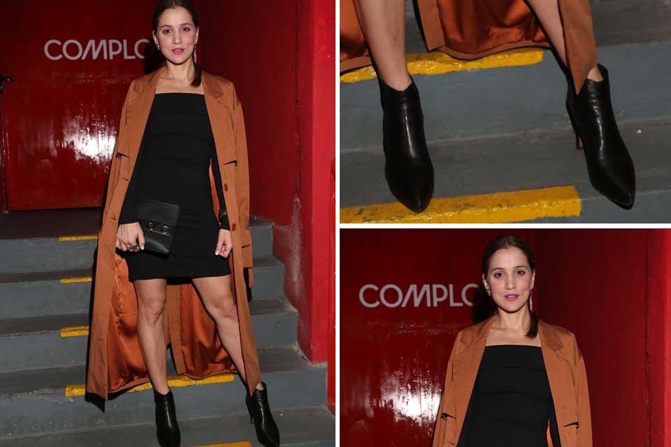 Bárbara Lombardo dijo presente en el lanzamiento de Complot y se llevó todas las miradas con este look canchero .