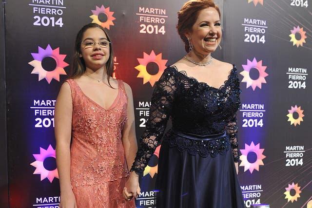 Gracias a su hija, Andrea del Boca no protagonizó un papelón en la alfombra roja
