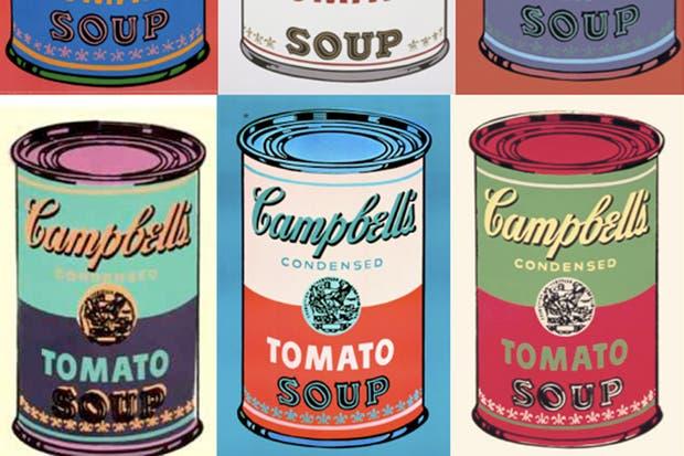 """""""Latas de sopa Campbell"""", pintura de Andy Warhol."""