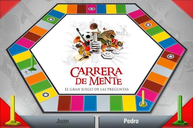 El tablero del Carrera de Mente en versión tableta