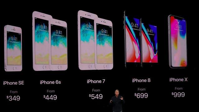 Los diferentes modelos del iPhone anunciados por Apple