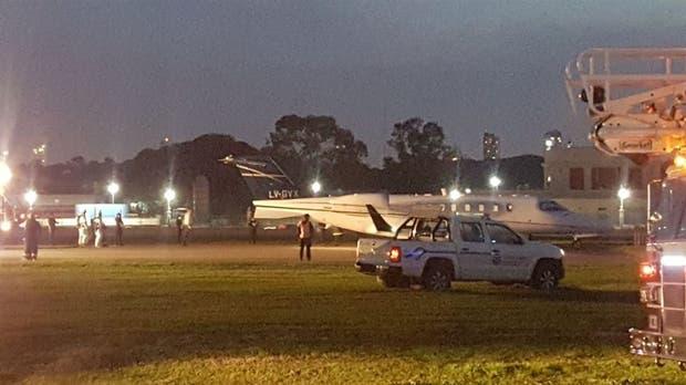 Se despistó un jet privado — Aeroparque