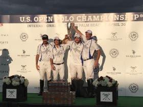 El podio de los campeones