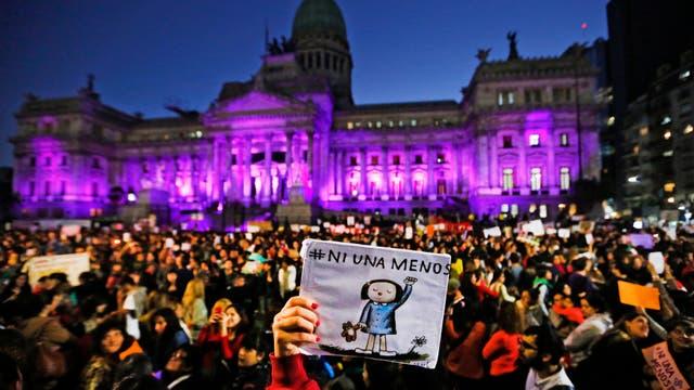 Ni Una Menos 2015 frente al Congreso de la Nación