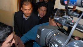 Alegre, en 2009, sale esposado de Tribunales