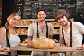 Anaïs, Adrien y Morgan, tres franceses que abrieron en diciembre la boulangerie Cocu en Gorriti y Malabia
