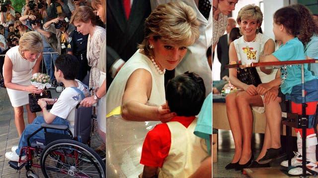 En su visita a la Argentina, recorrió distintas instituciones de beneficencia y estrechó manos con todos, sin guantes