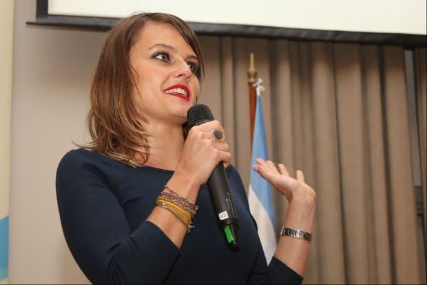 Gloria Alvarez en su discurso en la Sociedad Rural