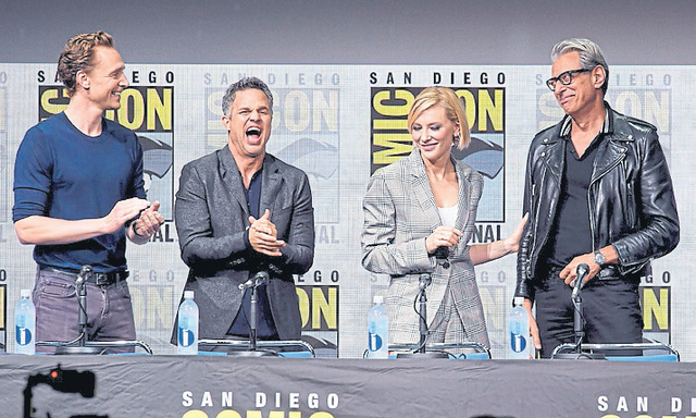 Tom Hiddleston, Mark Ruffalo, Cate Blanchett y Jeff Goldblum
