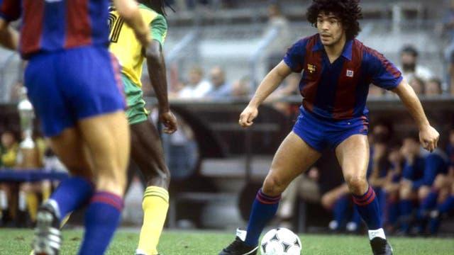Maradona, durante su etapa como jugador del Barcelona