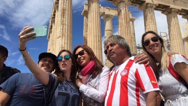 Cristina Kirchner, en Grecia