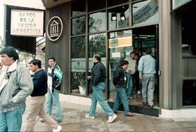 La sucursal del Banco Nación asaltada ayer en San Miguel de Tucumán