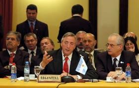 El presidente Néstor Kirchner focalizó su discurso en la crisis energética que afecta a los países del Mercosur