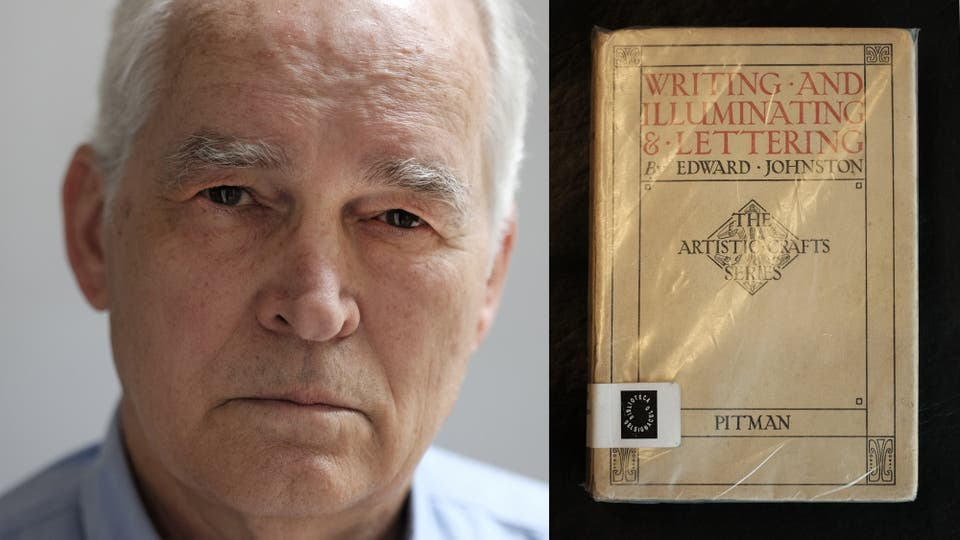 """Rubén Fontana y su objeto elegido: """"Este libro de Edward Johnston devolvió la mirada sobre la caligrafía. Esta edición de 1946 me acompaña desde hace mucho tiempo."""""""