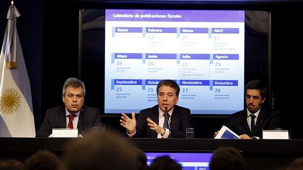 Nicolás Dujovne habló sobre las metas fiscales