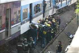 Dos formaciones del tren Sarminento que se dirigían a Moreno chocaron