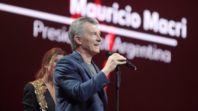 Mauricio Macri en el Global Citizen Festival