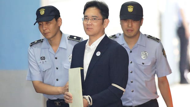 Lee Jae-yong, tras el veredicto, en Seúl