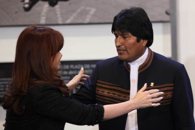 En 2011, Cristina Kirchner y Evo Morales inauguraron el gasoducto Juana Azurduy, en Yacuiba, Bolivia