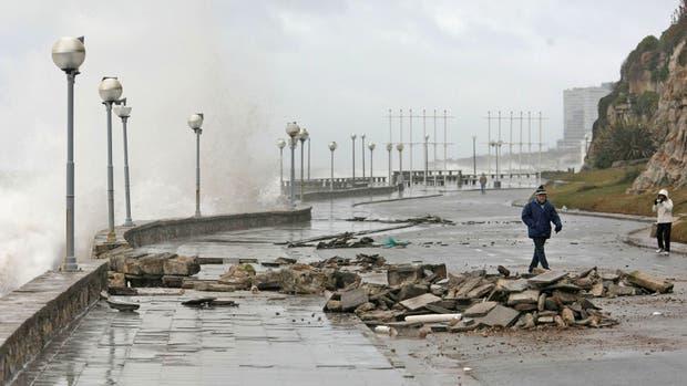 El temporal causó inconvenientes en ciudades de la Costa Atlántica