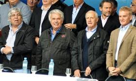 Moyano, De la Sota, Lavagna y De Narváez, durante el último encuentro conjunto en Córdoba