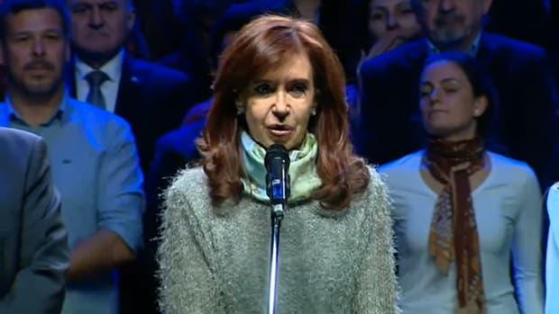 Cristina Kirchner en el lanzamiento de la campaña de Unidad Ciudadana en Mar del Plata